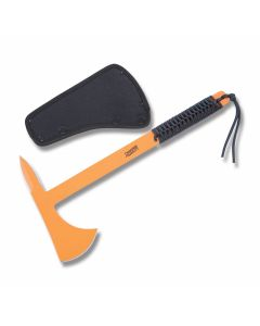 "Marbles Tactical Tomahawk 14.75"" with Cord wrapped Handle and Orange Coated High Carbon Steel Construction"