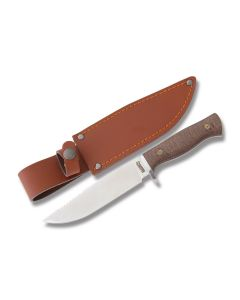 "Marbles Hunter with Tan Micarta Handles and Stainless Steel 6"" Clip Point Plain Edge Blades Model MR430"