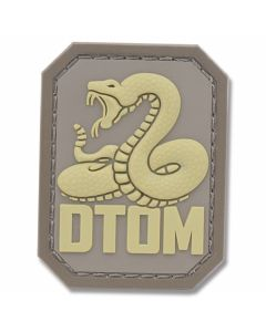 "Mil-Spec Monkey ""Don't Tread On Me"" Rubber Patch - Desert"