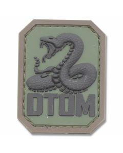 "Mil-Spec Monkey ""Don't Tread On Me"" Rubber Patch - Forest"