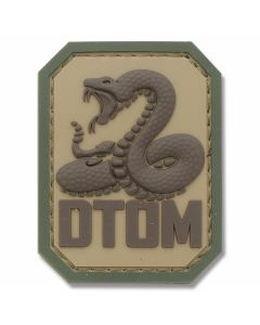 "Mil-Spec Monkey ""Don't Tread On Me"" Rubber Patch - Multicam"