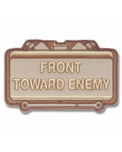 "Mil-Spec Monkey ""Front Toward Enemy"" Patch - Desert Camo Pattern"
