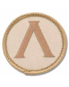 Mil-Spec Monkey Lambda Shield Patch - Desert Camo Pattern