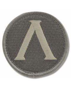 Mil-Spec Monkey Lambda Shield Patch - Light ACU Camo Pattern