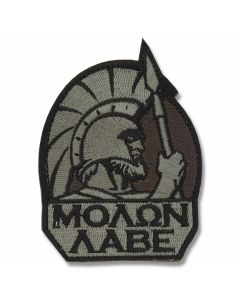 Mil-Spec Monkey Spartan Warrior Patch - Dark ACU Camo Pattern