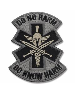Mil-Spec Monkey Do No Harm Spartan Patch - ACU Camo