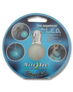 NITE IZE SpotLit LED Carabiner Light Blue Stainless Steel Spring Clip