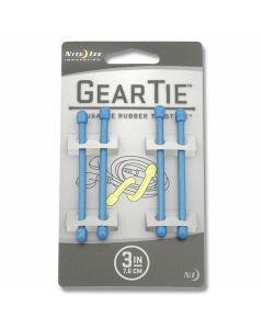 """Nite Ize 4 Pack 3"""" Gear Ties - Blue"""