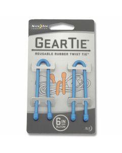 """Nite Ize 2 Pack 6"""" Gear Ties - Blue"""
