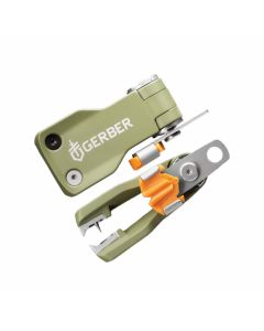Gerber Freehander Nip and Clip Tool with Green Anodized A380 Aluminum Handle and Satin Finish 7Cr17MoV Stainless Steel Blade Model 31-003279