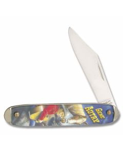 Novelty Cutlery Character Knife Gene Autry with Acrylic Handle and Carbon Steel Plain Edge Blades Model 124