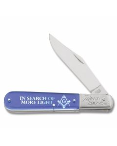 "In Search Of More Light Master Barlow 3.875"" with Clear Acrylic Handle and Stainless Steel Plain Edge Blades"