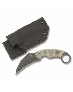 "Ontario Ranger Series EOD Karambit with Green Micarta Handle and Black Powder Coated 5160 Carbon Steel 3.625"" Karambit Plain Edge Blade with Black Kydex Sheath Model 9466"