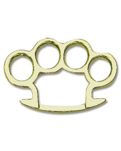 Round Edge Knuckle Belt Buckle with Brass Finish