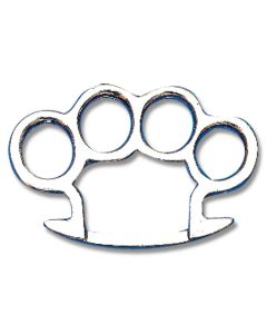 Round Edge Knuckle Belt Buckle with Silver Finish
