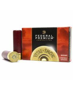 "Federal Premium Vital-Shok 12 Gauge 3.5"" 18 Pellet 00 Copper Plated Buckshot 5 Rounds"