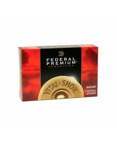 "Federal Premium Vital-Shok 12 Gauge 2.75"" 34 Pellets #4 Buckshot 5 Rounds"