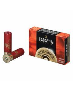 "Federal Premium Vital-Shok 12 Gauge 3"" 15 Pellet 00 Buckshot 5 Rounds"