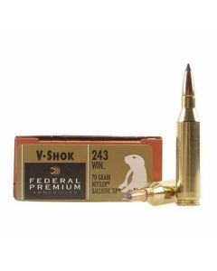 Federal Premium V-Shok 243 Winchester 70 Grain Noster Ballistic Tip 20 Rounds