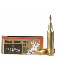 Federal Premium Vital-Shok 243 Winchester 95 Grain Nosler Ballistic Tip 20 Rounds