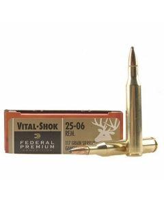 Federal Premium Vital-Shok 25-06 Remington 117 Grain Sierra Gameknig BT Soft Tip 20 Rounds