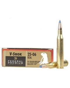 Federal Premium V-Shok 25-06 Remington 85 Grain Nosler Ballistic Tip 20 Rounds