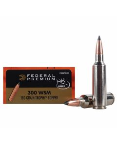 Federal Premium Vital-Shok 300 WSM 180 Grain Trophy Copper Tipped Boat Tail Lead Free 20 Rounds