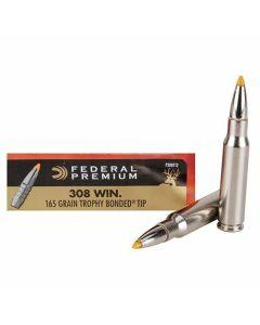 Federal Premium Vital-Shok 308 Winchester/7.62 NATO 165 Grain Trophy Bonded Tip 20 Rounds