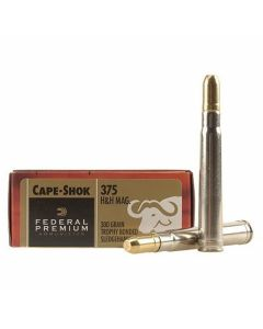 Federal Premium Cape-Shok 375 H&H Magnum 300 Grain Trophy Bonded Sledgehammer Solid 20 Rounds