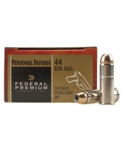 Federal Premium Personal Defense 44 Remington Mag 240 Grain Hydra-Shok Jacketed Hollow Point 20 Rounds