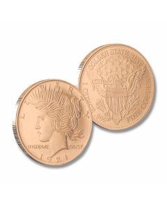 Peace Dollar Copper Round