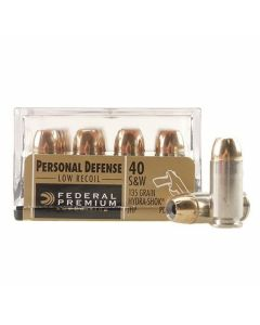 Federal Premium Personal Defense 40 S&W 135 Grain Hydra-Shok Jacketed Hollow Point 20 Rounds