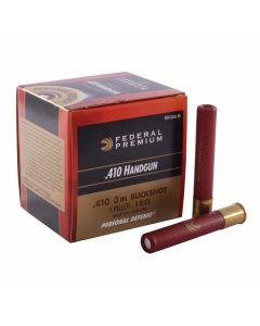 "Federal Premium Personal Defense 410 Gauge Handgun 3"" 9 Pellets #4 Buckshot 20 Rounds"