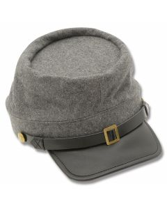 Civil War Kepi Hat - Confederate Grey
