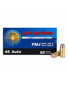 PPU 45 ACP 230 Grain Full Metal Jacket 50 Rounds