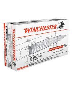 Winchester USA 5.56x45mm NATO 55 Grain Full Metal Jacket 20 Rounds
