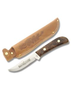 Queen Sabre Hunter with Gold Redwood Burl Maple Handle