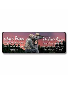 """Father & Son Prayer"" Small Tin Sign"