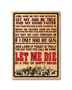 Gun Owner's Prayer Tin Sign
