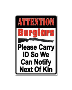 Please Carry ID Tin Sign Model 2250