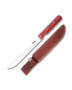 "Randall Made Knives Model 10 with Red Micarta Handle and High Carbon Stainless Steel 7"" Drop Point Blade Model RND107RMSS"