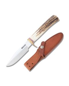 "Randall Made Knives Model 5 Small Camp Knife with Stag Handle and Stainless Steel 4"" Clip Point Blade Model RND54ST"