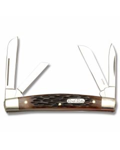 Rough Rider Congress Brown Jigged Bone Handle  440A Stainless Steel Blade