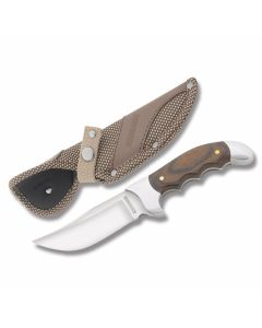 "Rough Rider Heavy Hunter Series Rogue with Polished Wood Handles and 440A Stainless Steel 4.50"" Clip Point Plain Edge Blades Model RR1346"