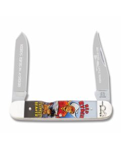 Rough Rider Riders of the Silver Screen Red Ryder and Little Beaver Two Bladed Pocket Knife with Acrylic Handles and 440A Stainless Steel Plain Edge Blades
