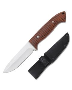 Rough Ryder Timberlands Hunter 440A Stainless Steel Blade Carved Wood Handle