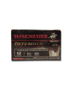 "Winchester PDXI Defender 12 Gauge 2.75"" 12 oz 00 Buckshot Over 1 oz Slug Bonded 10 Rounds"