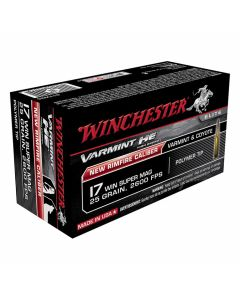 Winchester Varmint High Energy 17 Winchester Super Magnum 25 Grain Hornady V-Max 50 Rounds