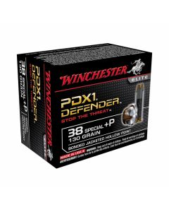 Winchester PDXI Defender 38 Special +P 130 Grain Bonded Jacketed Hollow Point 20 Rounds