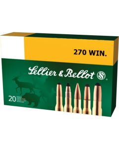 Sellier and Bellot 270 Winchester 150 Grain Soft Point 20 Rounds